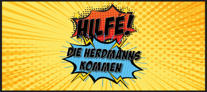 """Logo """"Hilfe, die Herdmanns kommen"""""""